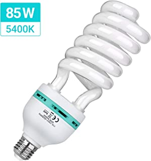 HPUSN 85W 110V 5400K Compact Fluorescent CFL Balanced Daylight Bulb with E27 Mount, Lighting Studio Ideal for Photography and Video
