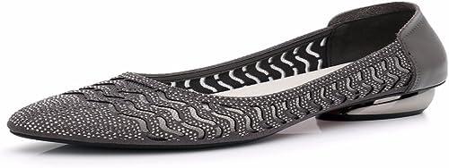 HBDLH Chaussures pour Femmes Chaussures en Cuir Summer Souliers à Fond Plat Chaussures en Cuir Et Les Chaussures De Loisirs Plat Et Chaussures.