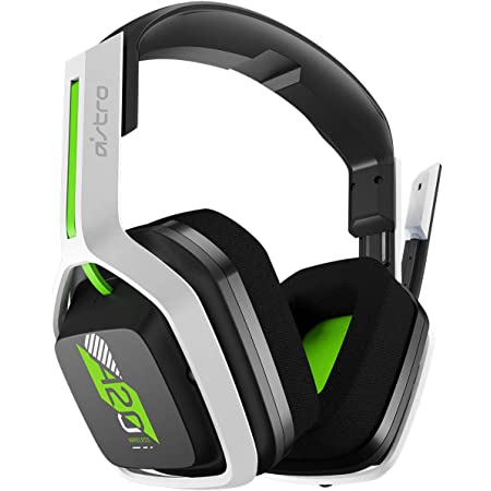 ASTRO Gaming A20 Wireless Headset Gen 2 for Xbox Series X   S, Xbox One, PC & Mac - White /Green