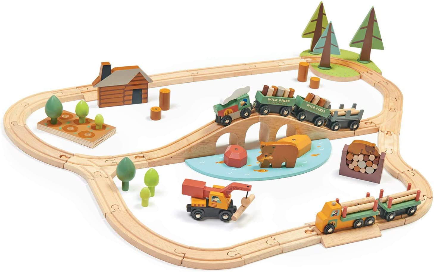 Discount is also underway Tender Leaf Toys - Wild Pines Train Stunning Wooden Lumber wholesale Set