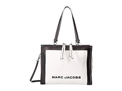 Marc Jacobs The Box Color Blocked Shopper 33 (Cotton Multi) Handbags