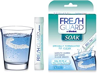 Fresh Guard by Efferdent Soak Crystals | Cleans Mouth Appliances | 24 Count