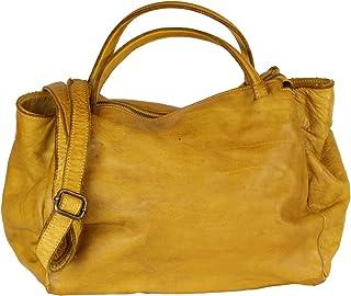 BZNA Bag Diana gelb yellow Italy Designer Damen Handtasche Schultertasche Tasche Leder Shopper Neu