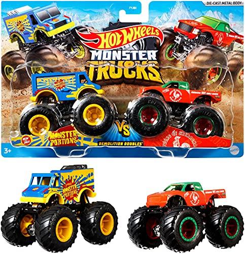 Mattel - Hot Wheels Monster Trucks 1:64 Demo Doubles 2-Pk Assorted Models
