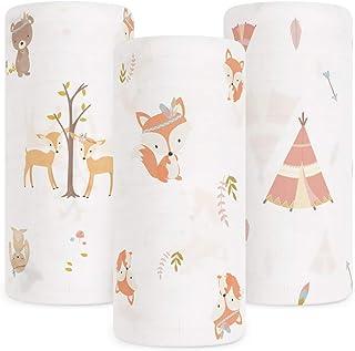 Babebay Baby Muslin Swaddle Blanket, 3-Pack Unisex Bamboo Swaddle Blanket Boys & Girl, Soft Silky Swaddling Blankets Wrap ...