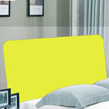 D DOLITY for Headboard Protective Cover, Yellow, 150x80cm