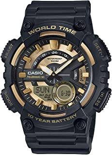 Casio Men's Ana-Digi Dial Resin Band Watch - AEQ-110BW-9AV