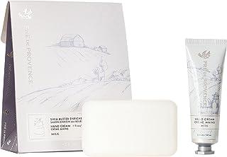 Pre de Provence Gift Set Collection 150 Gram Soap Bar & 1 fl oz Hand Cream, Milk