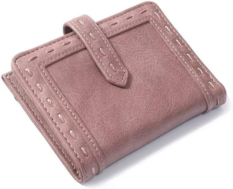 Girls Purse Women's Wallet Ladies Wallet Short bifold Small Fresh Zipper Pocket Wallet (color   E)