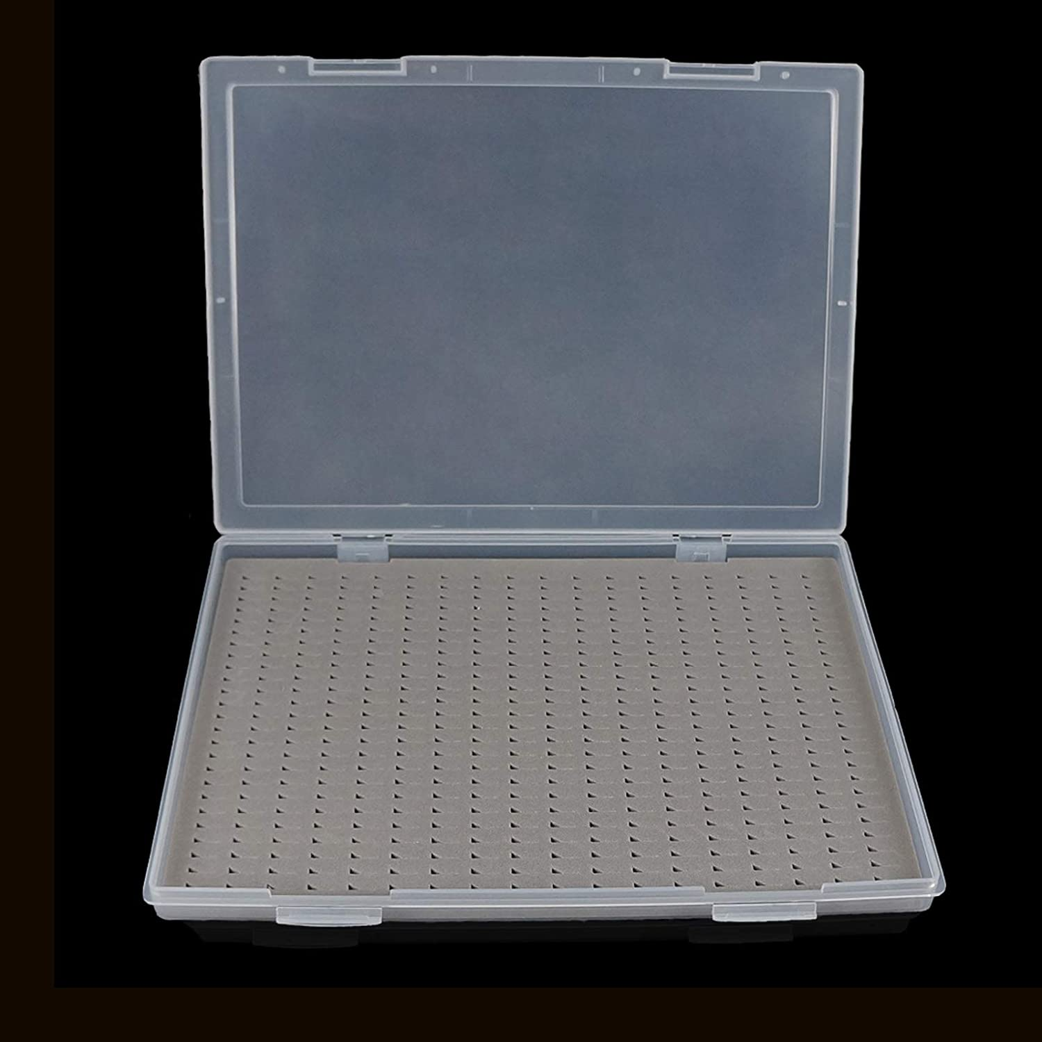 Aventik Price reduction Fort Worth Mall Super Large Capacity Fly Boxes PP Co Slim Foam Lid Clear
