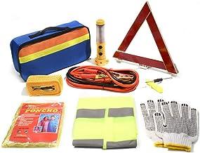 TourKing Kit de Emergencia para Coche, Juego de 9 Piezas de Herramientas de conducción de Seguridad, triángulo de Advertencia, Cuerda de Remolque, Kit de Asistencia de Seguridad para Carretera
