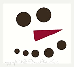 Wall Decor Plus More WDPM3301 Snowman Face Dots with Carrot Nose Winter Wall Decal Art for Seasonal Decor, 12-Inch, Chocol...