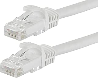Monoprice Flexboot Cat6 Ethernet Patch Cable - Network Internet Cord - RJ45, Stranded, 550Mhz, UTP, Pure Bare Copper Wire,...