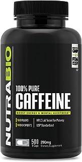 Sponsored Ad - NutraBio 100% Pure Caffeine Anhydrous (500 Capsules, 200mg)
