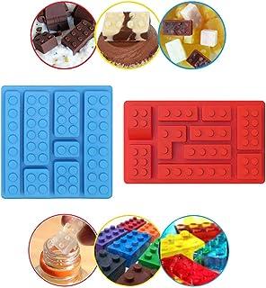 Molde de silicona para cubitos de hielo, diseño de robot, moldes de chocolate, para fiestas de niños y para hornear minifiguras, juego de 2 unidades
