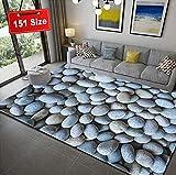 SODKK Teppiche Wohnzimmer 3D Steinmuster Flauschige Teppiche Flauschig Weiche 8 Rug Grippers Rutschfester Teppichunterlage für Schlafzimmer, Esszimmer, Flur und Kinderzimmer, 40x60cm