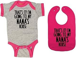 That's It! I'm Going to My Nana's House - Baby Ringer Bodysuit & Premium Bib Gift Set