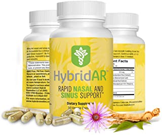 HybridAR Rapid Nasal & Sinus Support by Hybrid Remedies - Pharmacist Formulated Natural Herbal Formula to Support Seasonal...