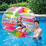 MorTime Inflatable Roller Float, 40' Colorful Water Wheel, Swimming Pool Roller Toy for Kids and Adults Outdoors
