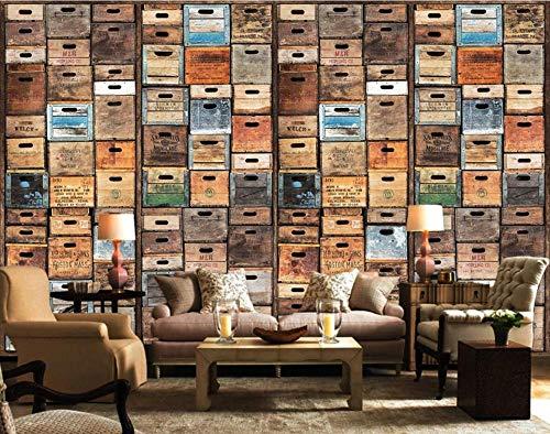 Fototapete Wandbilder 3D Effekt 250x175 cm Nostalgische Retro Bierkiste Bar Ktv Werkzeug Tapete 3D Vliestapete Tapeten Wandbild Tapeten Wohnzimmer Tv Wanddeko
