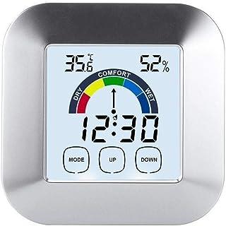 XYXZ Termómetro De Habitación Higrómetro Digital para Interiores Mini Reloj Multifuncional Estación De Temperatura Ambient...