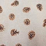 Stoff Meterware Baumwolle Natur Tannenzapfen Zapfen Herbst