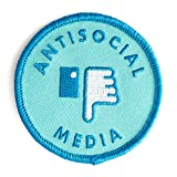 These Are Things Antisocial Media Embroidered Iron On or Sew On Patch