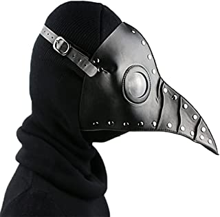 SHOLIND Medieval Steampunk Mask Plague Doctor Bird Mask Masquerade Halloween Costume