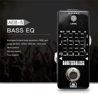 Gecheer AEB-5 5-Band Graphic EQ Bass Guitar Equalizer Effect Pedal Aluminum Alloy Body True Bypass