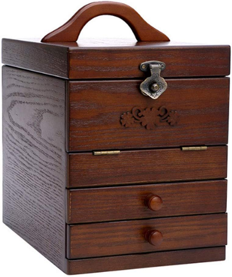 Ranking TOP13 REDSHORE Carved lowest price Wooden Make-up Storage Four Organizer La Floors