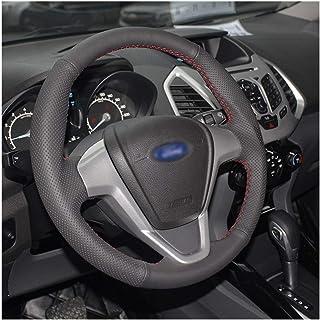 MAGT Cappuccio pomello Cambio a 5 Marce ABS Nero Coprigiunto pomello Cambio per Auto Coperchio Copricapo Compatibile con Ford Fiesta Focus