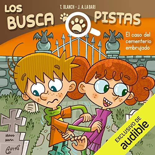 Diseño de la portada del título Buscapistas: El Caso Del Cementerio Embrujado (Narración en Castellano)