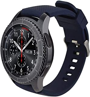 Gear S3 Watch Band, iBazal Gear S3 Frontier /Classic Band Soft Silicone Band Replacement Sport Strap, 22mm Watch Band for ...