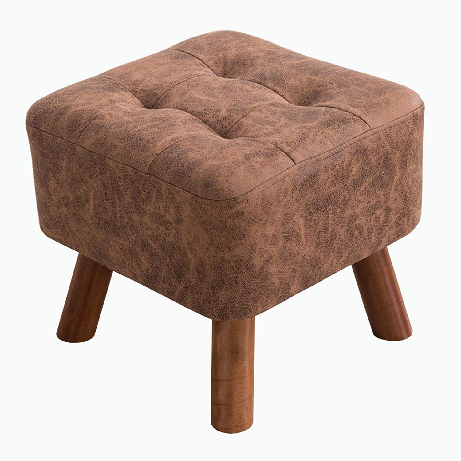 ZHAOYONGLI Stool Beautiful Fashion Stool Creative Sofa Stool Solid Wood shoes Bench Seat Dressing Table Stool Creative Solid Durable Long Lasting (color   Brown, Size   40  32cm)