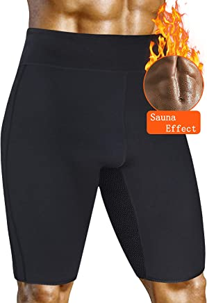 36ed60c3436fb AGROSTE Men s Weight Loss Sauna Hot Sweat Thermo Shorts Out Pocket Body  Shaper Neoprene Athletic Yoga