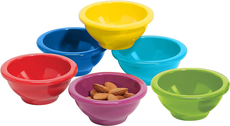 Oggi Melamine 6-Piece Pinch Bowl Colors Set Max 53% Japan Maker New OFF Assorted