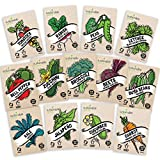 Heirloom Vegetable Seeds Kit 13 Pack – 100% Non GMO for Planting in...