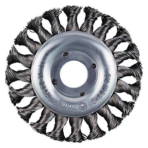 RHODIUS Rundbürsten Stahl SRBZ Made in Germany gezopft Ø 115 mm für Winkelschleifer Zopfbürste Unkrautbürste 2 Stück