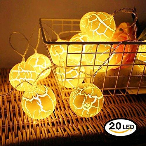 Guirlande Lumineuse Noël, Chickwin Noël LED Lumineuse Lumières AA Batterie Alimentation LED Pour Noël Partie Décoration Maison Etc (Jaune, 20LED/ 3m)