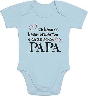 Shirtgeil Ich Kann Es Kaum Erwarten Dich Zu Sehen Papa Baby Body Kurzarm-Body