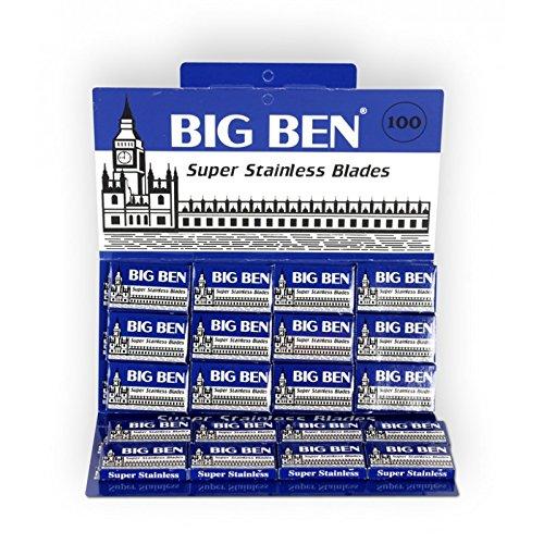 100 Cuchillas de Afeitar Doble Hoja Big Ben