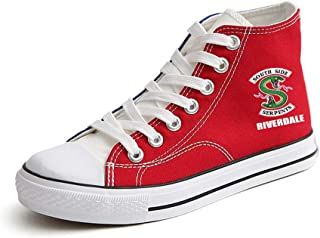 Gogofuture Unisex Riverdale Retro Shoes Hi-Top Lace-up Fashion Sneaker