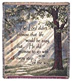 'Every Step of the Way' Inspirational Tapestry Throw Blanket 50' x 60'