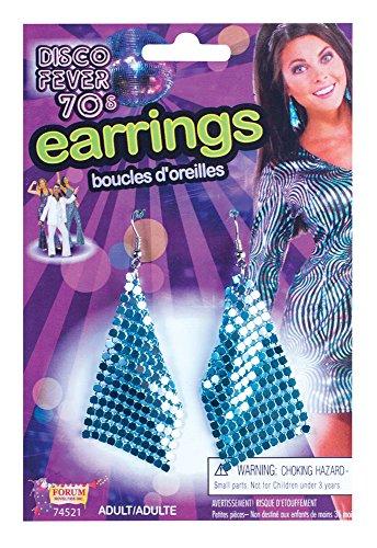 FORUM Novelties 74521 Diamant Boucles d'oreilles Bleu, Taille Unique