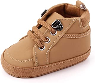 Csfry Newborn Baby Boys' Premium Soft Sole Infant Prewalker Toddler Sneaker Shoes