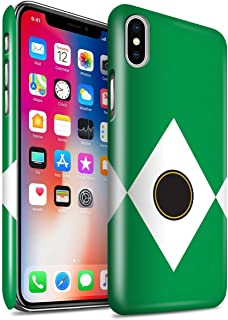 Gloss Phone Case for Apple iPhone X/10 TV Comic Rangers Green Design Glossy Hard Snap On Cover