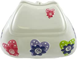 BANK Purse Hearts Ceramic CR160HW