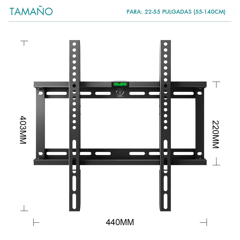 Famgizmo Soporte de Pared Fijo para TV de 22-55 Pulgadas (55-140cm ...