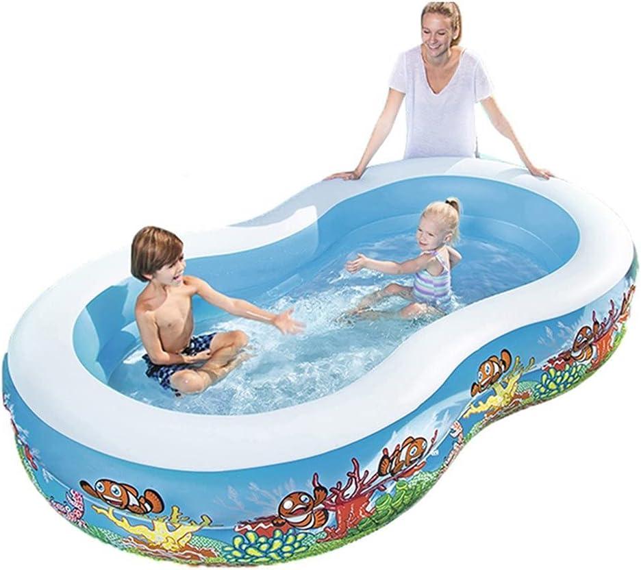 Piscina Infantil Ocean Life Piscina Easy Set Piscina Inflable Piscina con Caja de Juegos Piscina Inflable al Aire Libre para niños