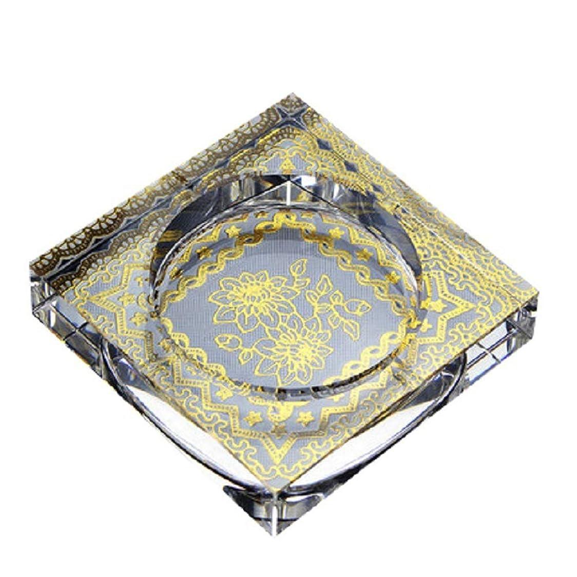 弱める継続中構成するタバコ、ギフトおよび総本店の装飾のための灰皿の円形の光沢のある水晶灰皿